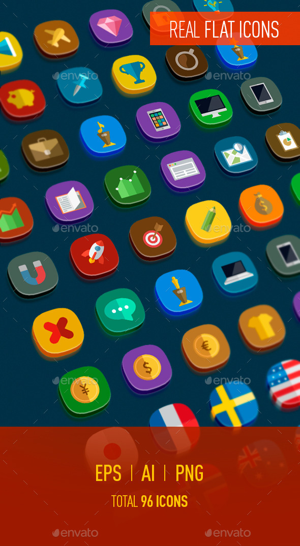 GraphicRiver Icons Flat 10373424