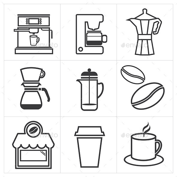 GraphicRiver Coffee Icon 10373427