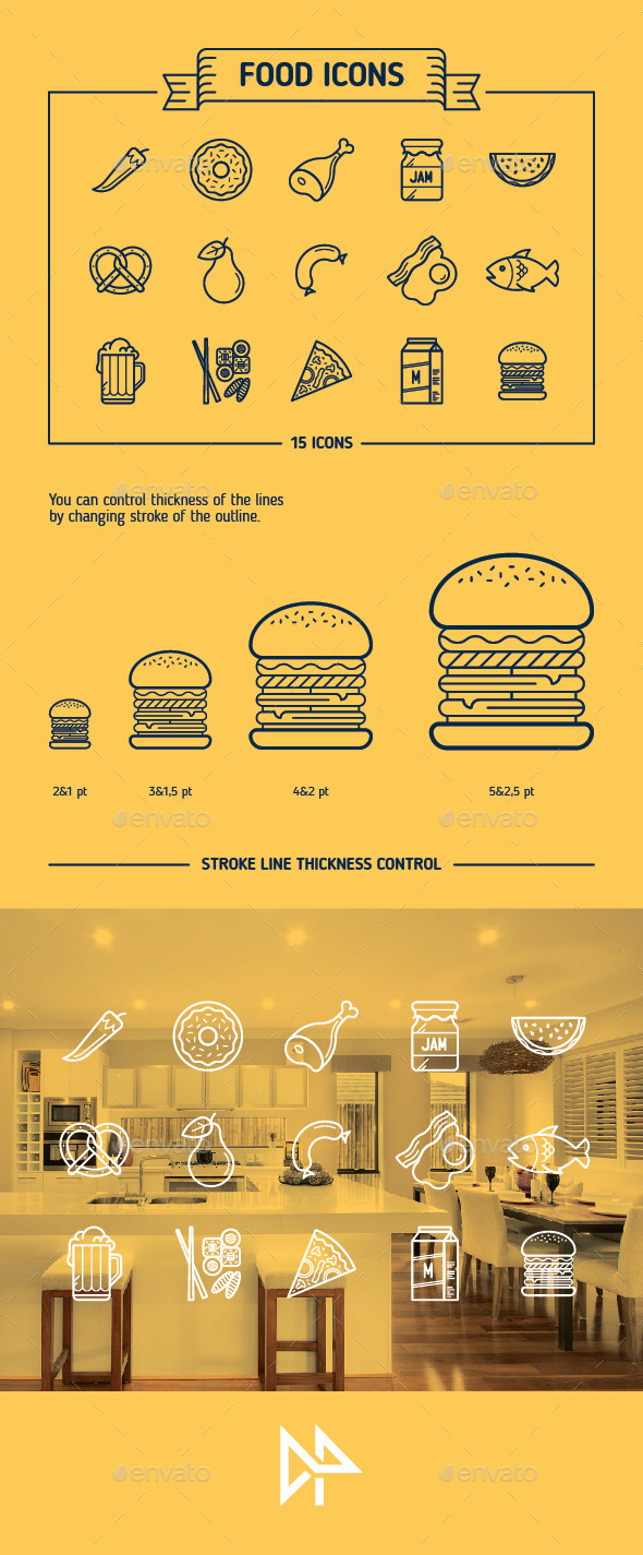 GraphicRiver Food Icons 10373461