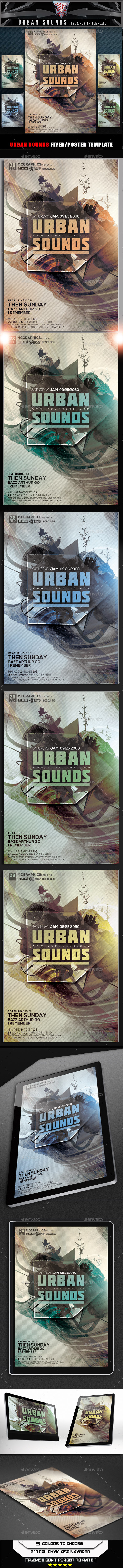 GraphicRiver Urban Sounds Flyer Template 10373484