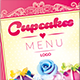 Cupcakes Menu - GraphicRiver Item for Sale