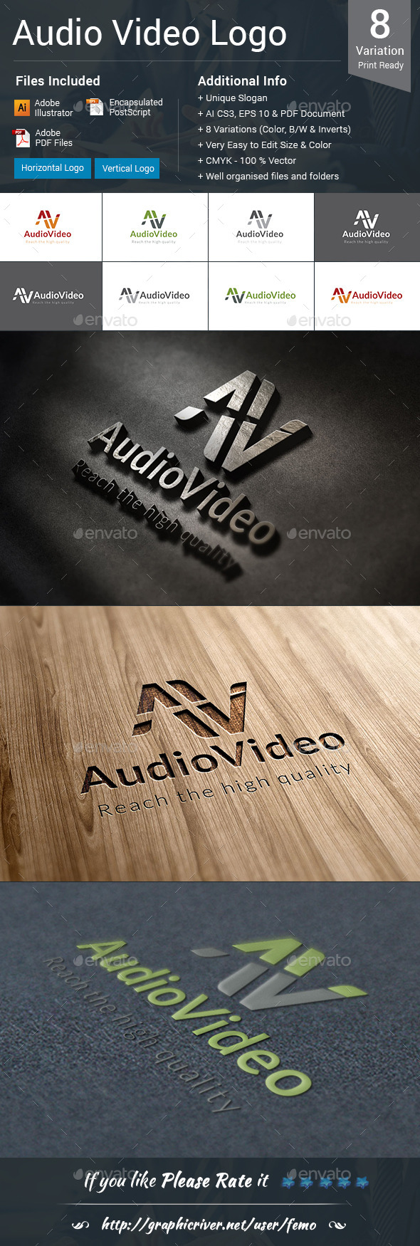 GraphicRiver Audio Video Logo 10373555