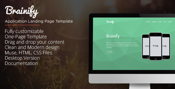 ThemeForest Brainify Application Landing Page Muse Template 10373657