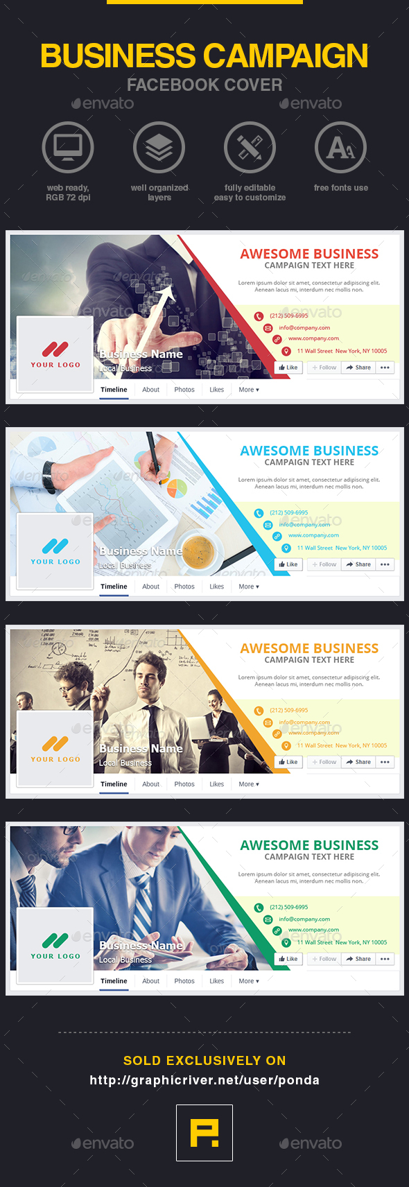 GraphicRiver Business Campaign Facebook Cover 10373723