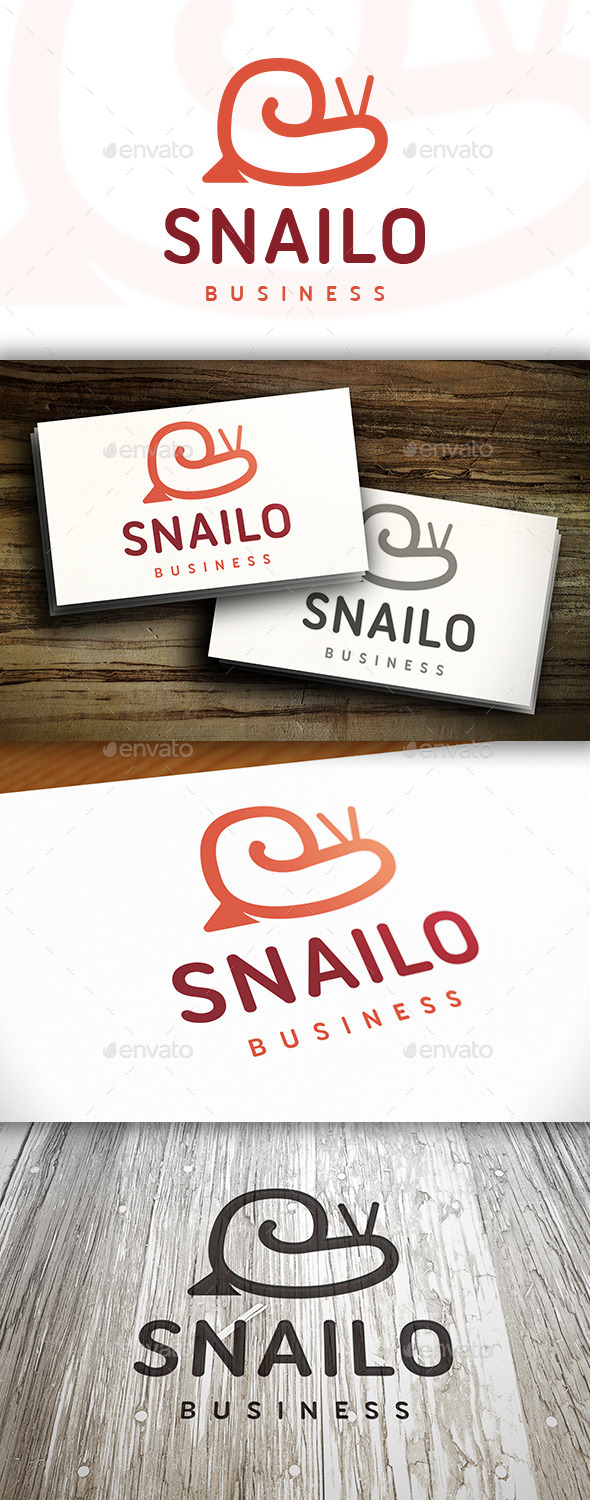 GraphicRiver Snail Logo Template 10373726
