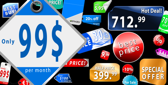 After Effects Project - VideoHive Collection of Sticker labels & Price tags AE CS4 130713