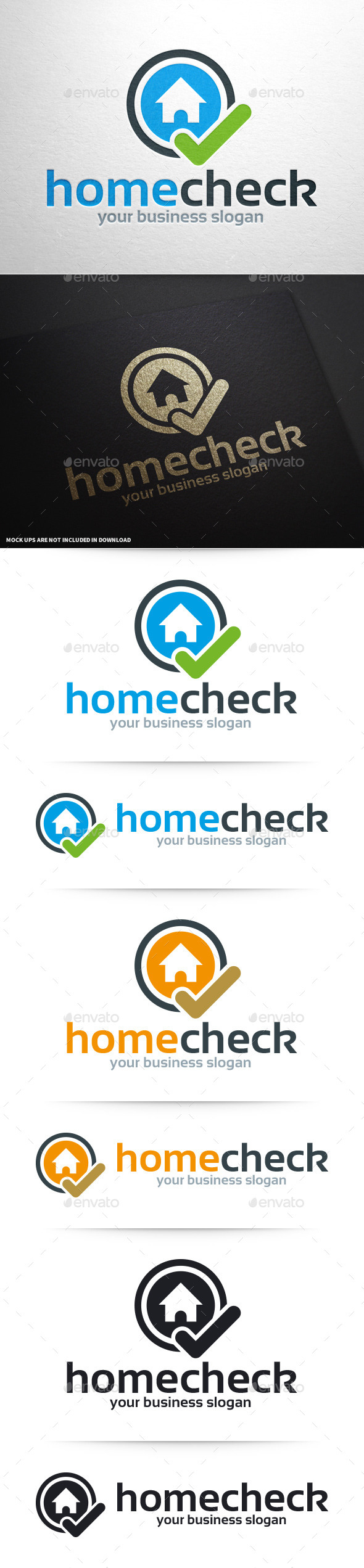 GraphicRiver Home Check Logo Template 10373908