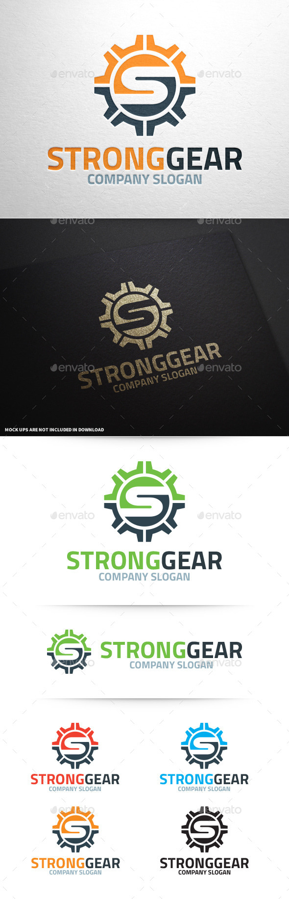 GraphicRiver Strong Gear Letter S Logo 10373953