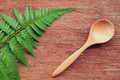 Wooden spoon on table - PhotoDune Item for Sale