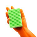Sponge in hand with a rubber glove. - PhotoDune Item for Sale