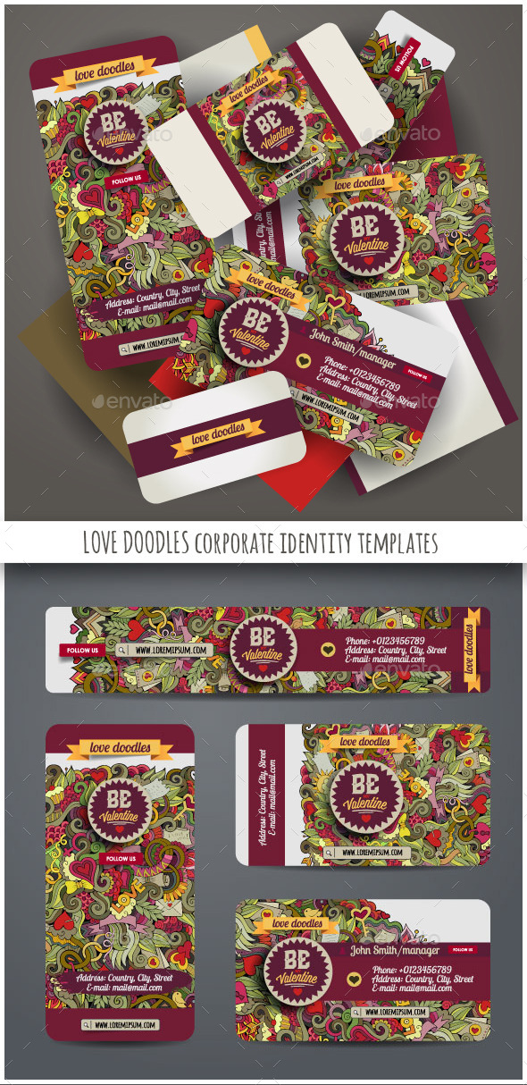 Love Doodles Corporate Identity Templates