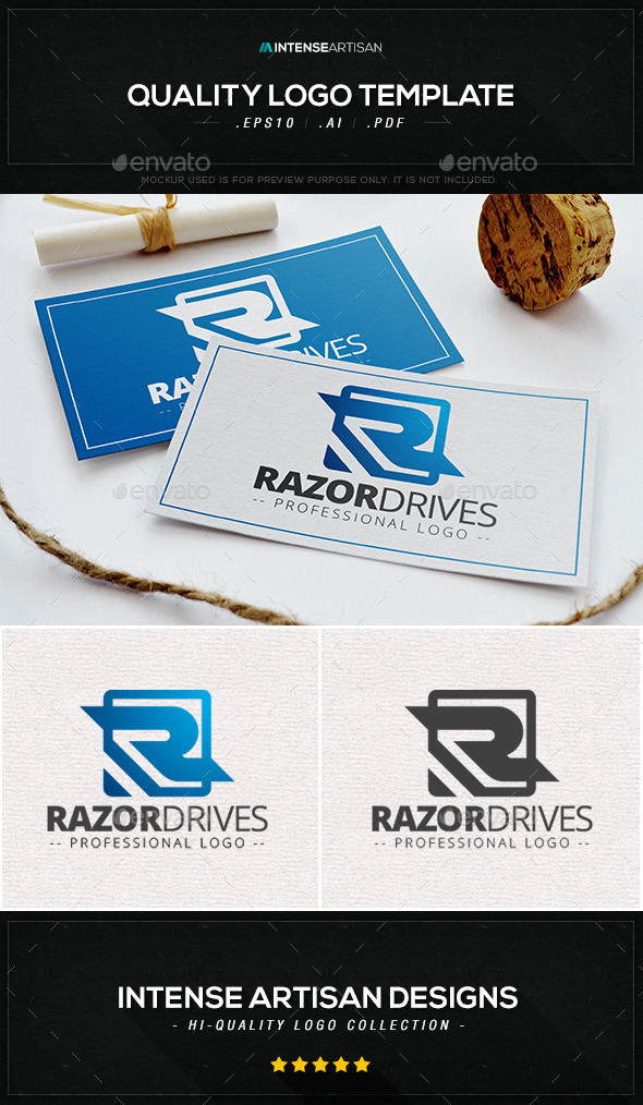 GraphicRiver Razor Drives Logo Template 10374328