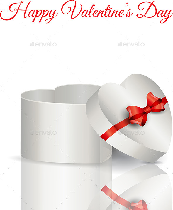 GraphicRiver Heart Shaped Gift Box 10374392