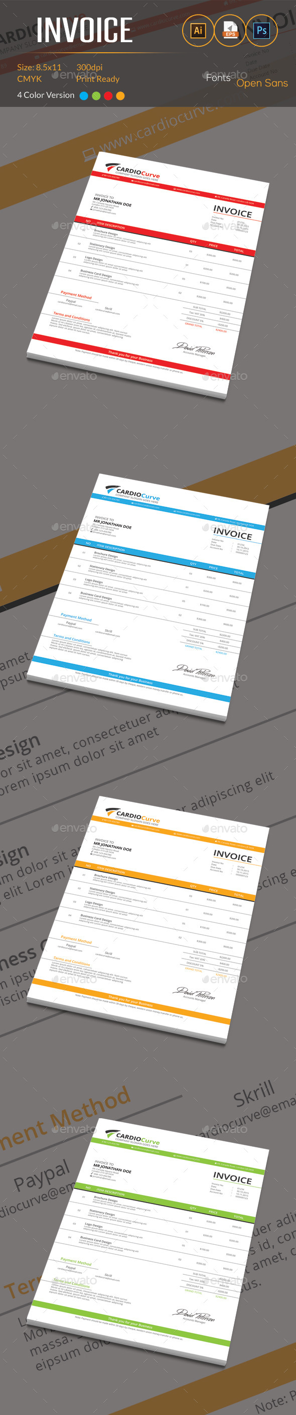 GraphicRiver Invoice 10374397