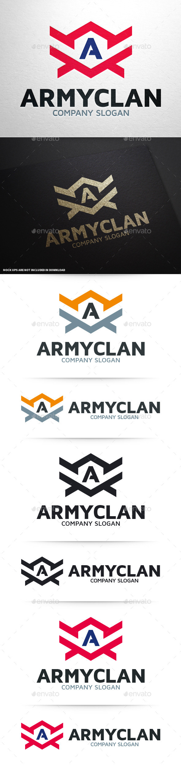 GraphicRiver Army Clan Letter A Logo 10374401