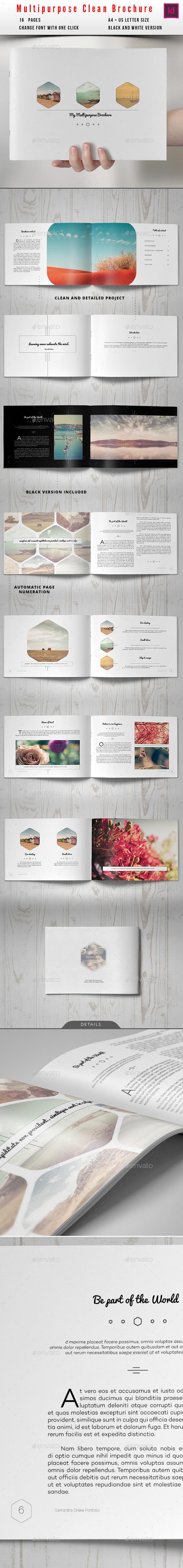 GraphicRiver Multipurpose Clean Brochure 10309900