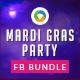 Mardi Gras Facebook Covers Bundle - 3 designs - GraphicRiver Item for Sale