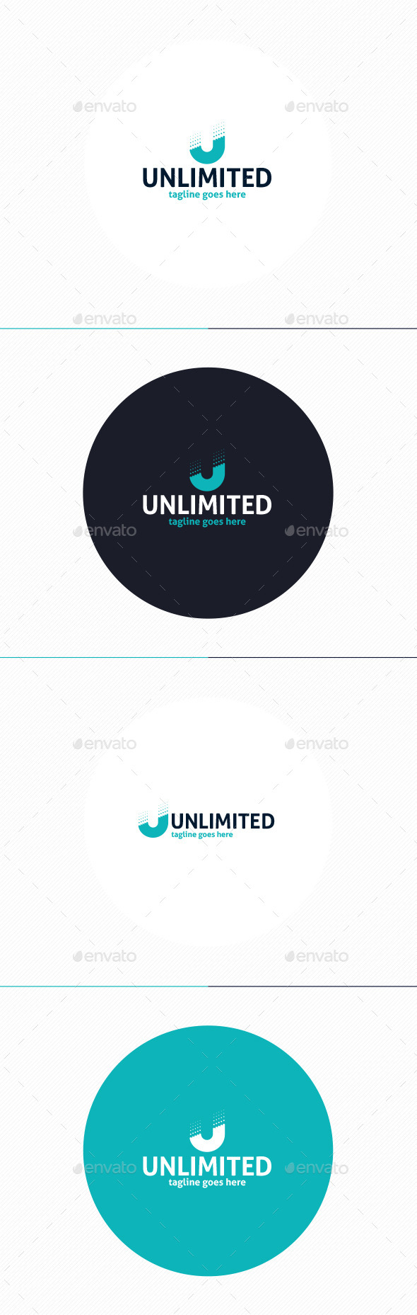 GraphicRiver Unlimited Logo Letter U 10374666