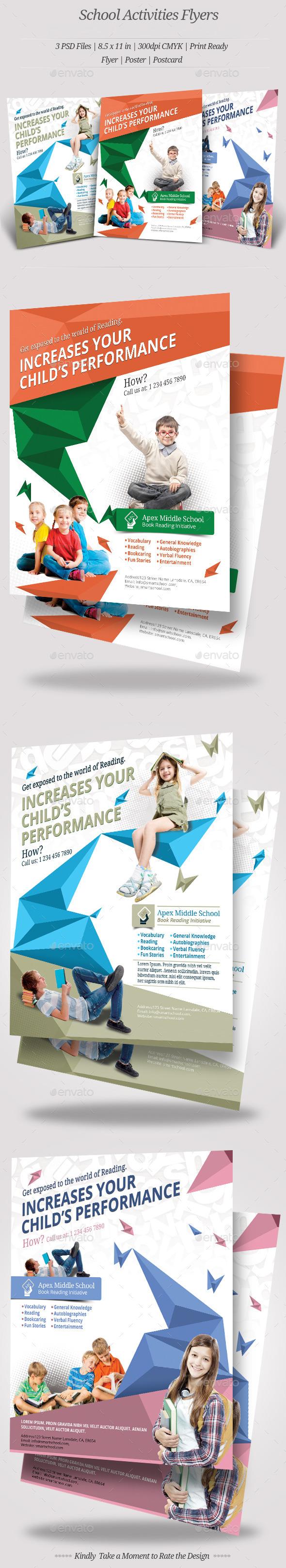 GraphicRiver School Activities Flyer Templates 10374680