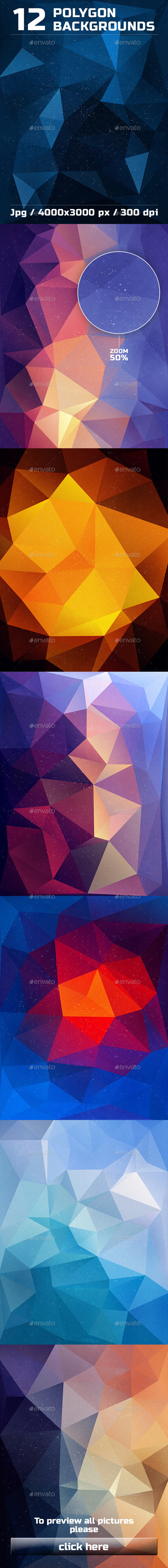 GraphicRiver 12 Polygon Backgrounds Vol 3 10374695