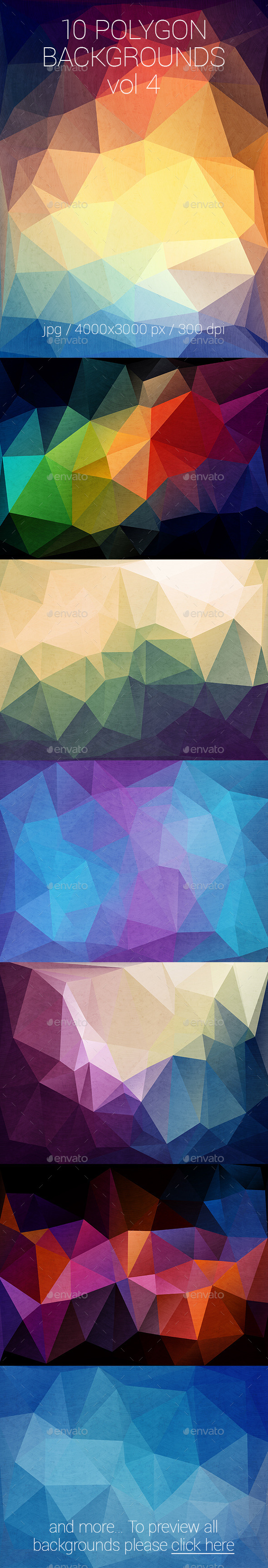 GraphicRiver 10 Polygon Backgrounds Vol 4 10374711