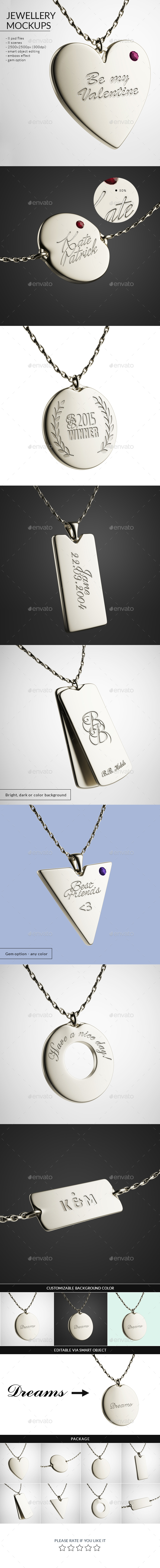 GraphicRiver Jewellery Mockups 10330308