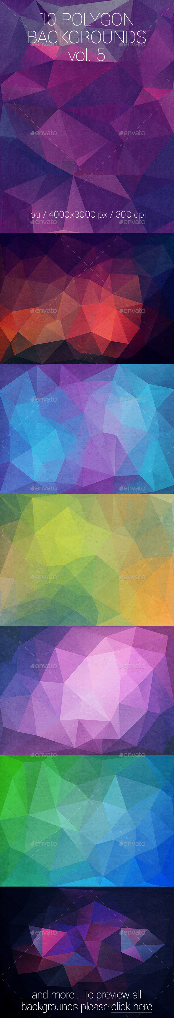 GraphicRiver 10 Polygon Backgrounds Vol 5 10374731