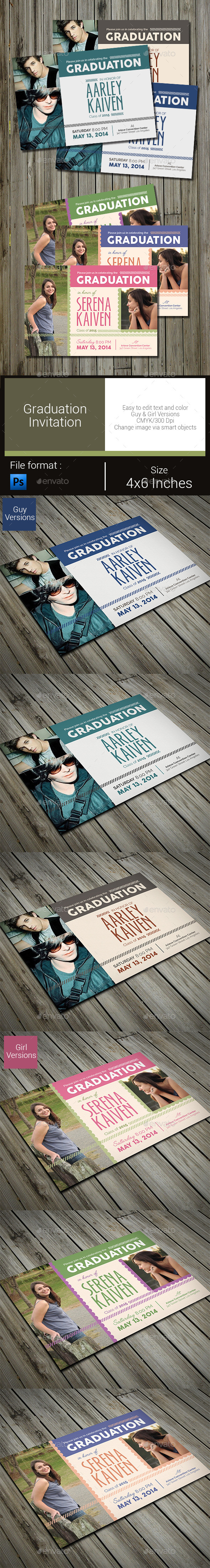 GraphicRiver Graduation Invitation 10374894