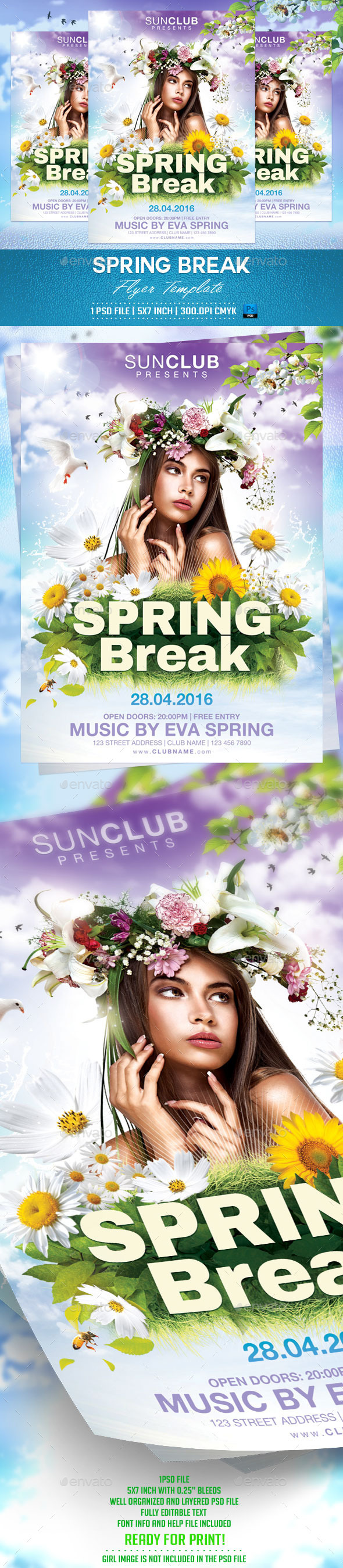 GraphicRiver Spring Break Flyer Template 10374985