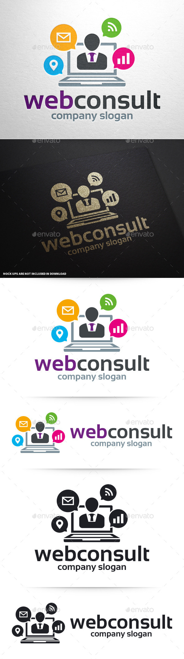 GraphicRiver Web Consult Logo Template 10375590