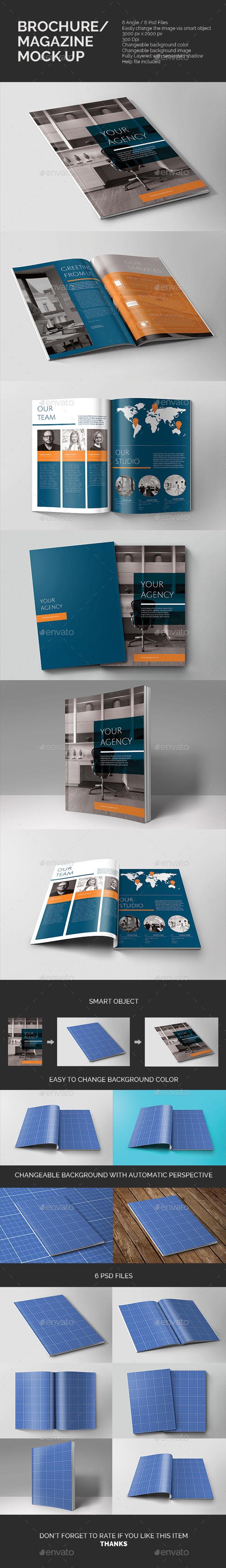 GraphicRiver Brochure Magazine Mock-up 10375844