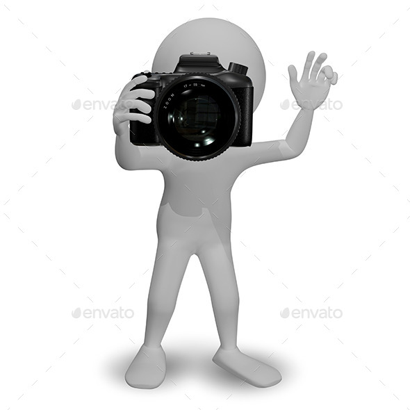 GraphicRiver Man with Camera 10376555