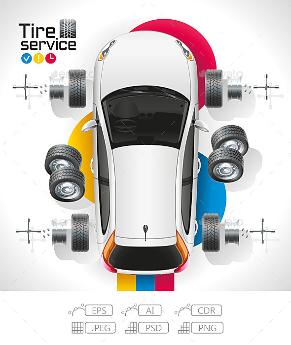 GraphicRiver Car Tire Service 10376570