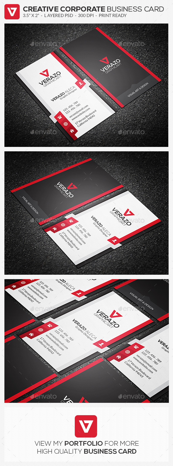 GraphicRiver Creative Corporate Business Card 73 10376708