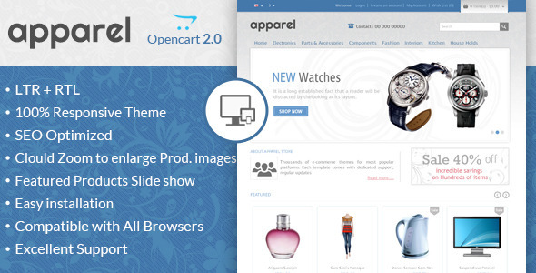 Apparel - Responsive OpenCart Template - OpenCart eCommerce