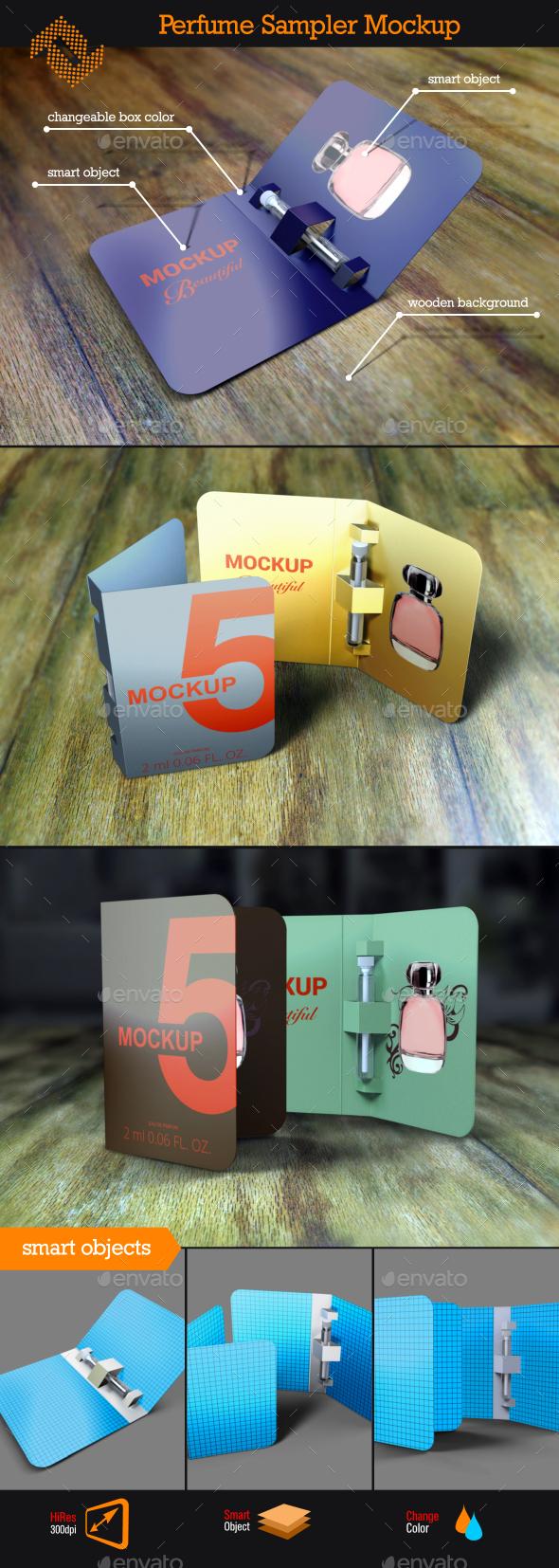 GraphicRiver Perfume Sampler Mockup 10376794