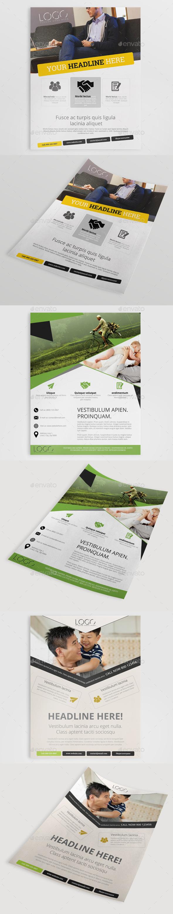 GraphicRiver 3in1 Corporate Flyer Bundle 10376925