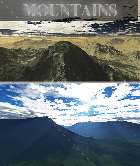 GraphicRiver Mountains HD Skybox Pack 10376946