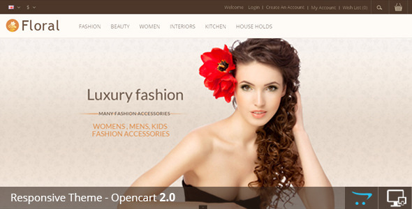 Floral - Opencart Responsive Template - Fashion OpenCart