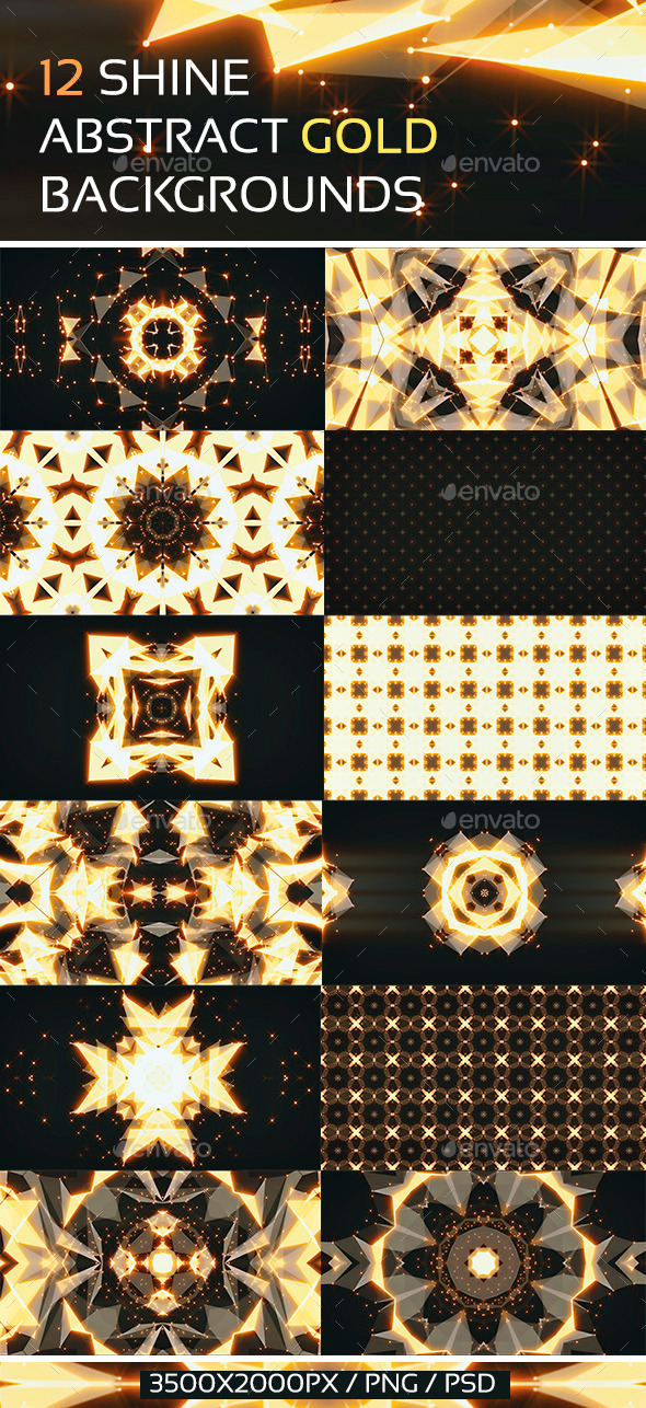 GraphicRiver 12 Shine Abstract Gold Backgrounds 10376960
