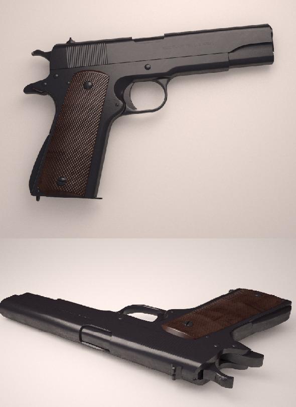 3DOcean Colt M1911 10376965