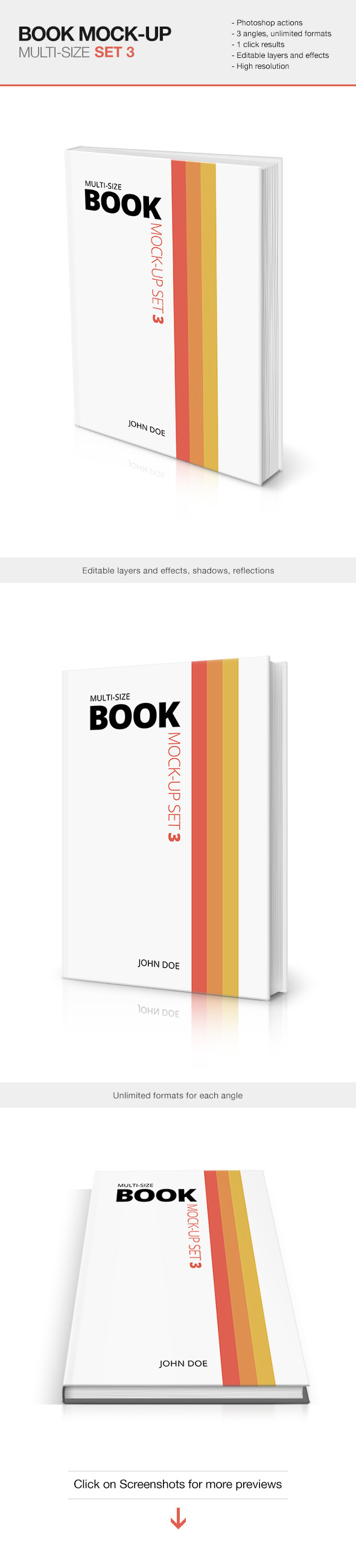 GraphicRiver Multi-size Book Mockup Set 3 10377060