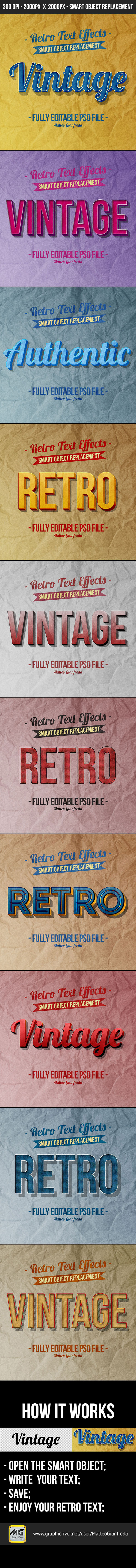 GraphicRiver Retro Vintage Text Effects 10330477