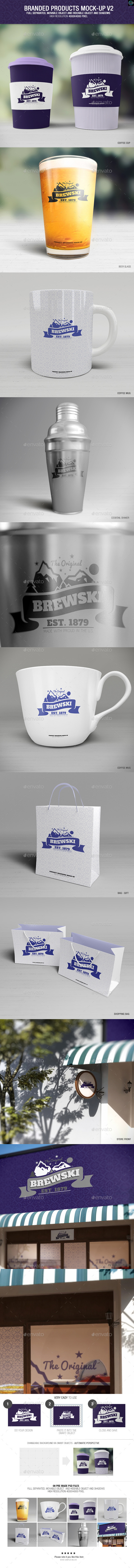 GraphicRiver Branded Products Mock-up V2 10377431