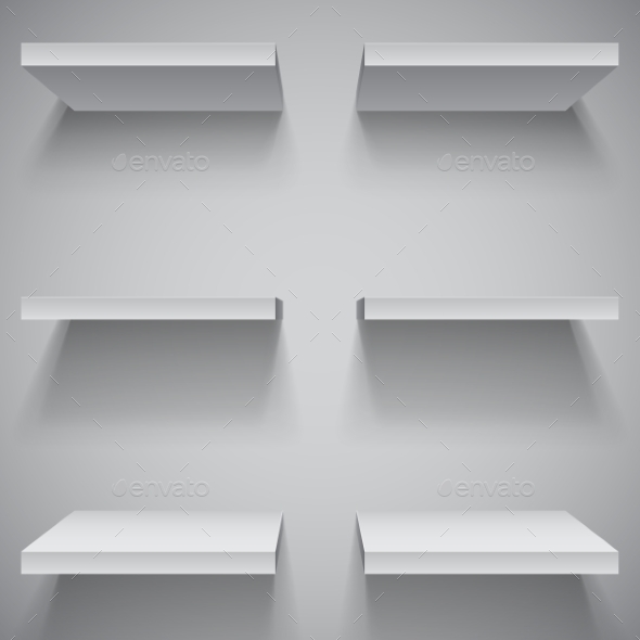 GraphicRiver White Shelves 10378389