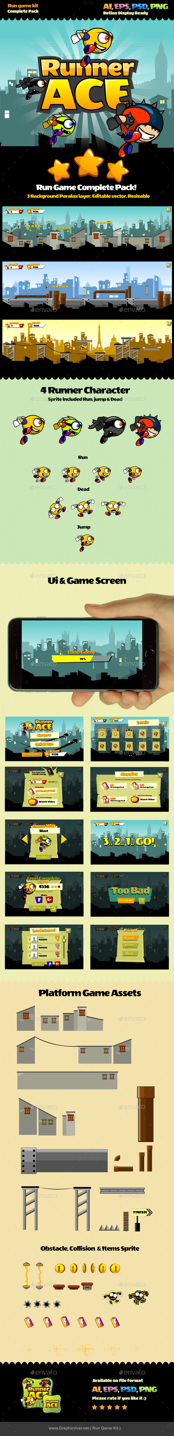 GraphicRiver Run Game Kit 10378499