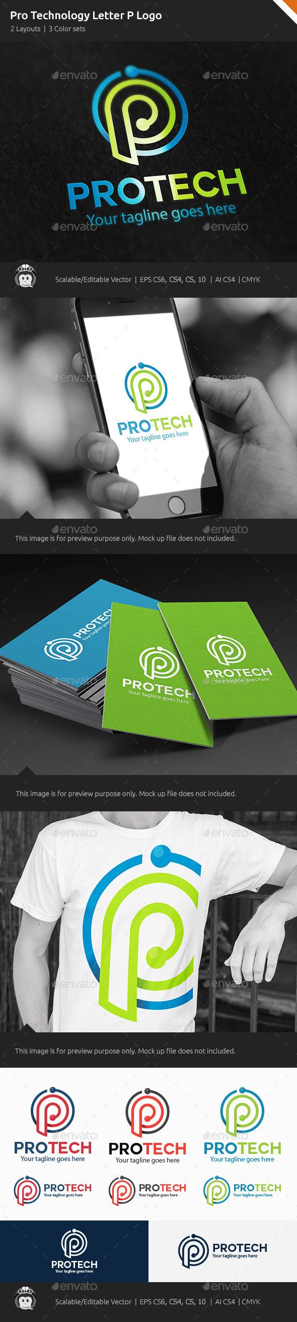GraphicRiver Pro Technology Letter P Logo 10378521