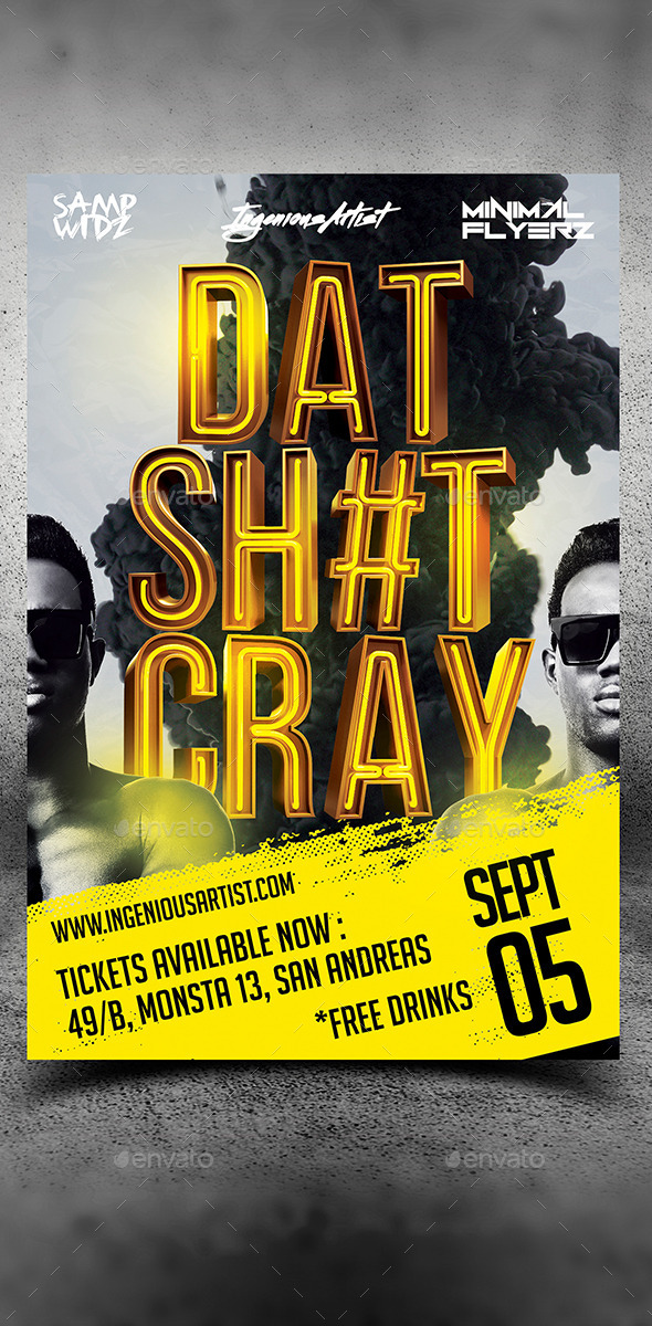 That Thing Cray Party Flyer
