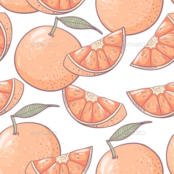 GraphicRiver Grapefruit Seamless Pattern 10378641