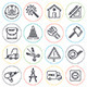 Construction Building Line Icons  - GraphicRiver Item for Sale